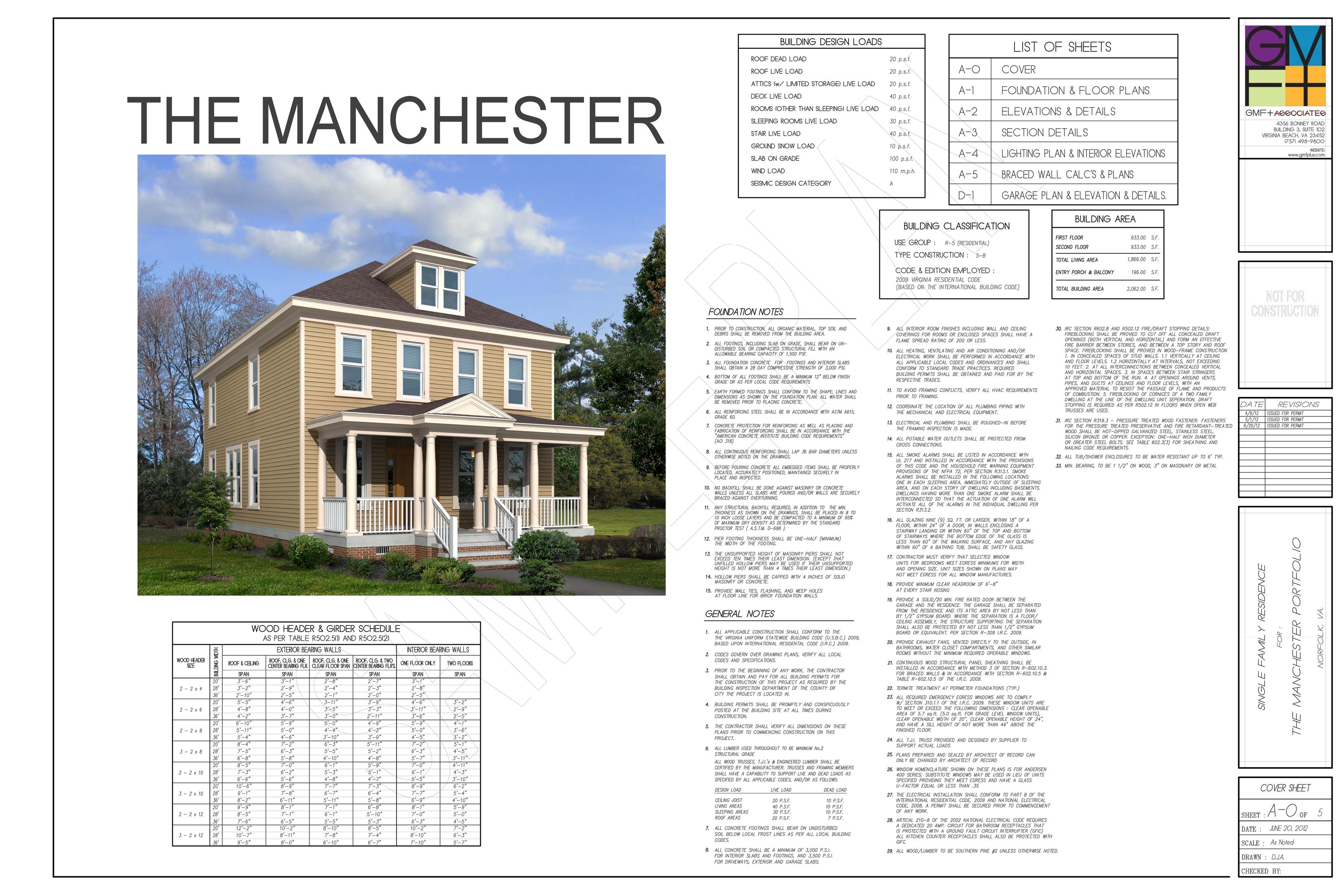 Sample plan set gmf architects house plans gmf for Home construction specification sheet