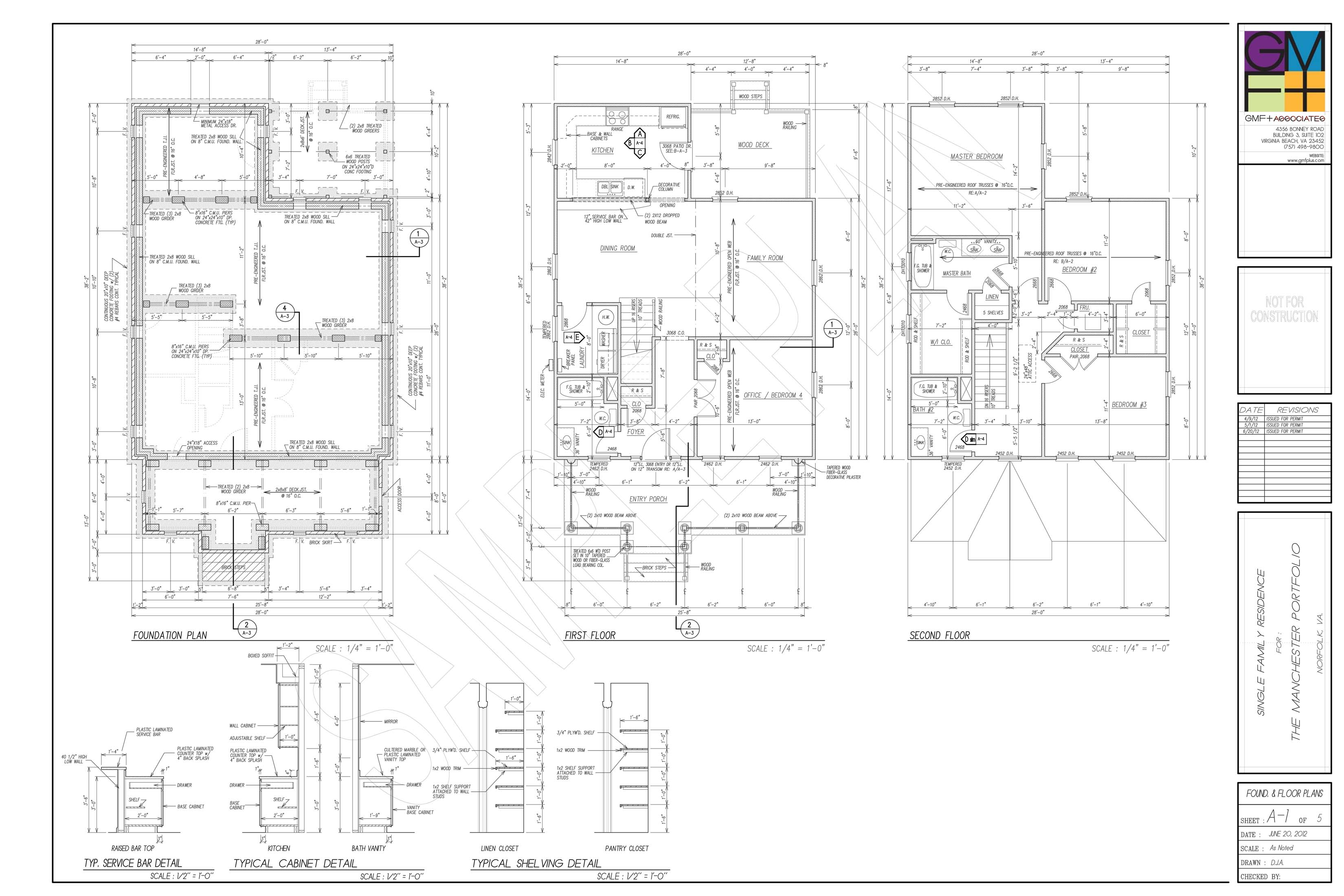 Sample plan set gmf architects house plans gmf for Wall homes floor plans